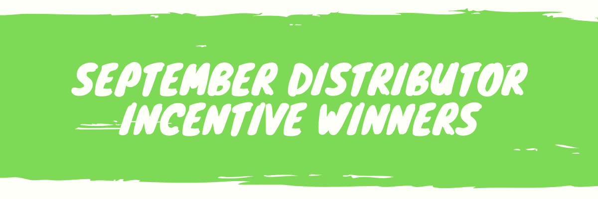 September Distributor Incentive Winners
